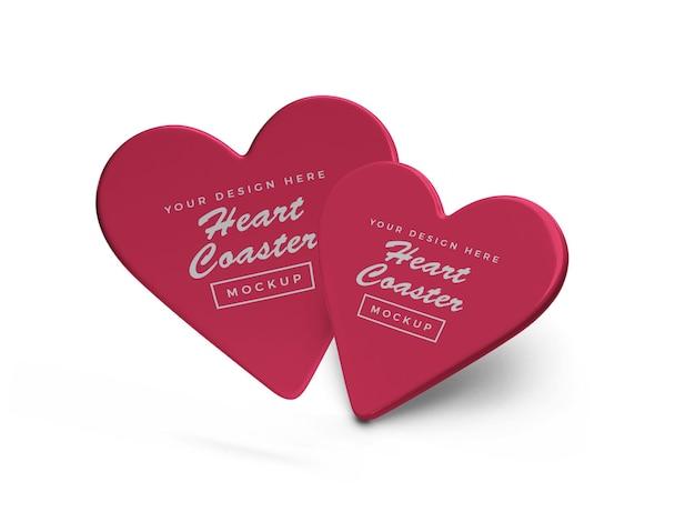 Conception de maquette de coaster coeur saint-valentin
