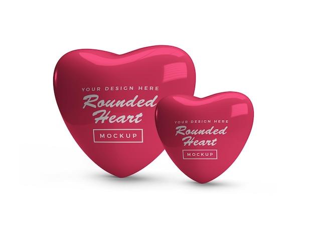 Conception de maquette de coeur saint-valentin arrondi