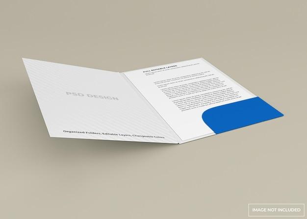 Conception de maquette de dossier de document isolée