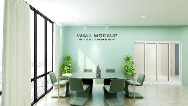 La conception de la maquette du mur de l'espace de réunion