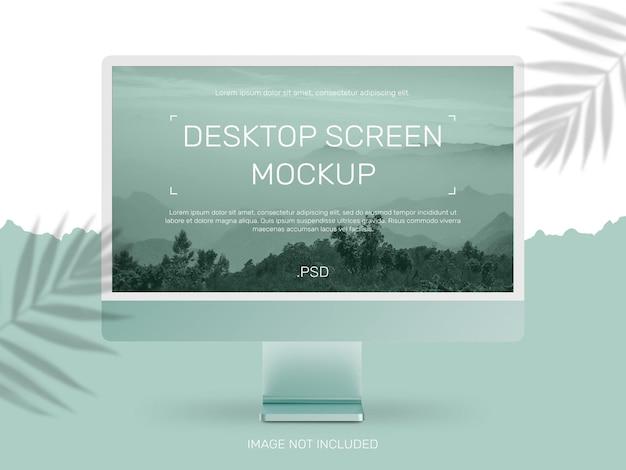 Conception de maquette d'écran de bureau
