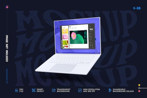 Conception de maquette d'écran d'ordinateur portable moderne modifiable