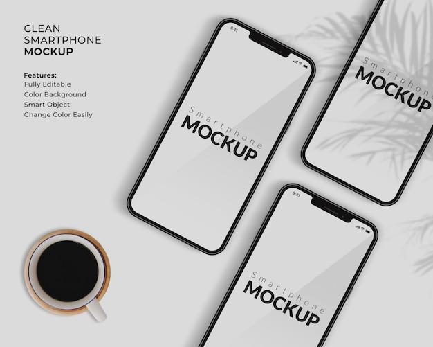 Conception de maquette d'écran de téléphone portable