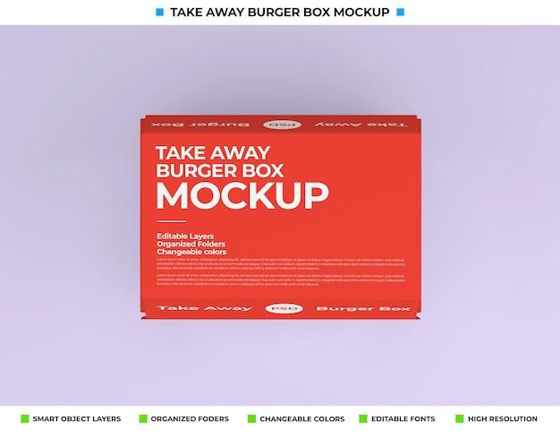 Conception de maquette d'emballage de boîte de nourriture à emporter