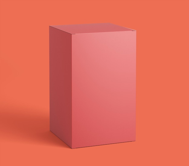 Conception de maquette d'emballage de boîte rouge isolée
