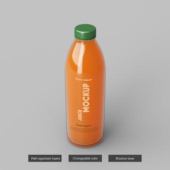 Conception de maquette d'emballage de bouteille de jus