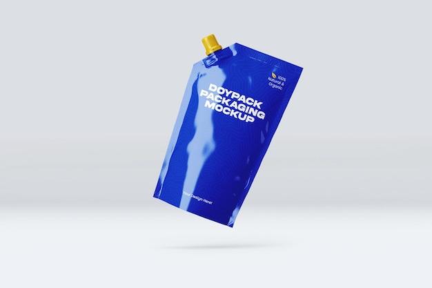 Conception de maquette d'emballage doypack isolée