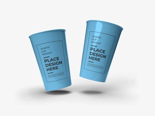Conception de maquette d'emballage de gobelet en plastique