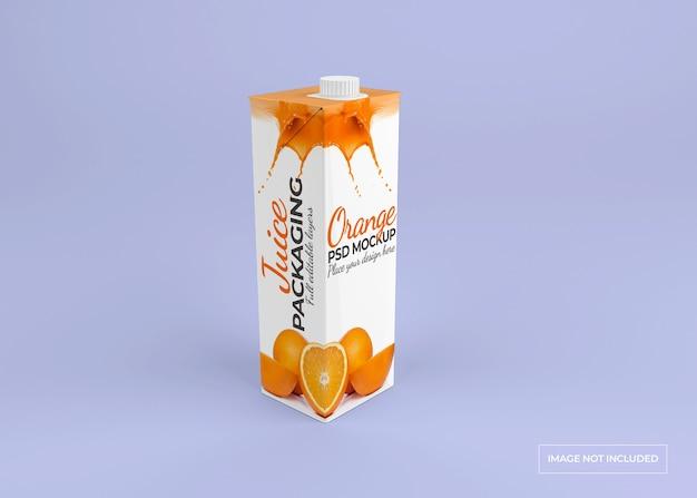 Conception de maquette d'emballage de jus isolée