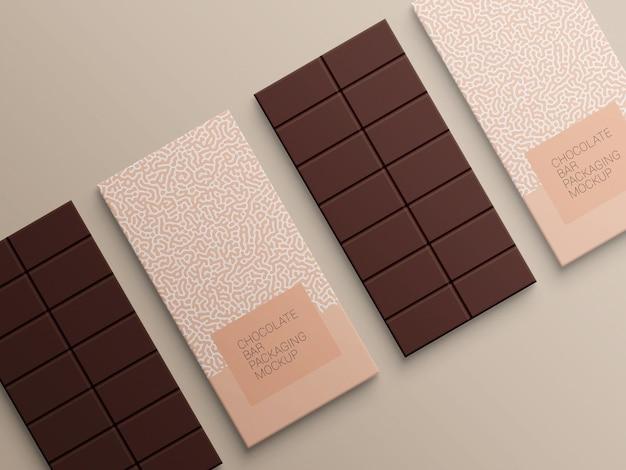 Conception de maquette d'emballage de papier d'emballage de barre de chocolat