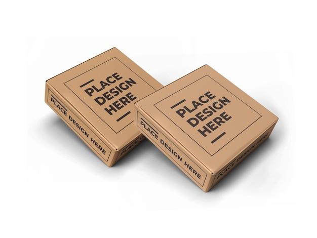 Conception de maquette d'emballage de petite boîte carrée