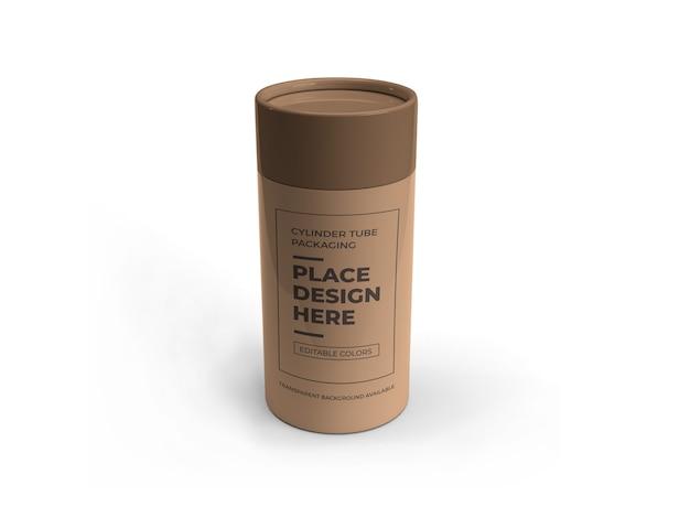 Conception de maquette d'emballage de tube de cylindre isolé