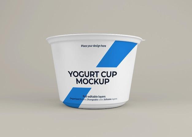 Conception de maquette d'emballage de yogourt isolée