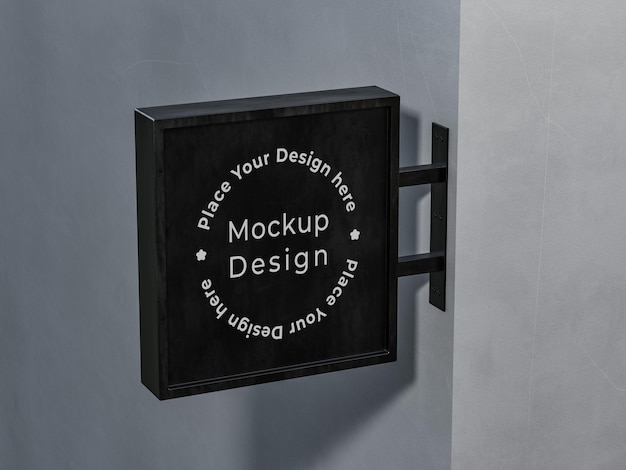 Conception de maquette d'enseigne de magasin en rendu 3d