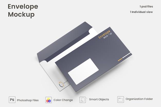 Conception de maquette d'enveloppe psd premium