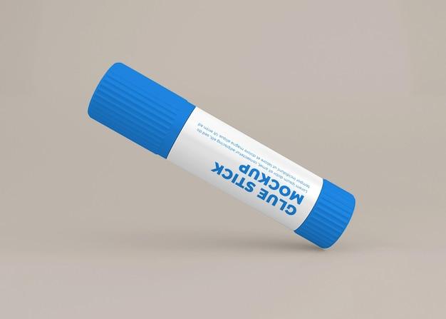 Conception de maquette d'étiquette de bâton de colle en rendu 3d isolé