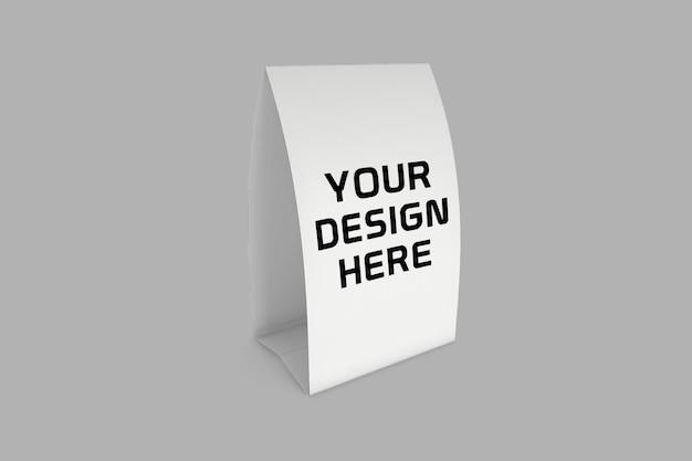 Conception de maquette d'exposition de table en papier