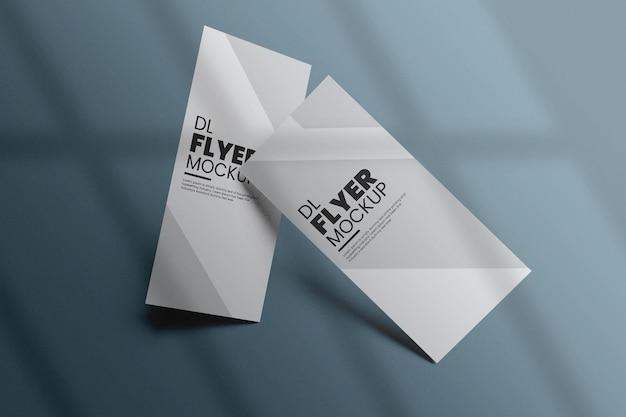 Conception de maquette de flyer dl dans le rendu 3d