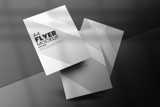 Conception de maquette de flyer isolée