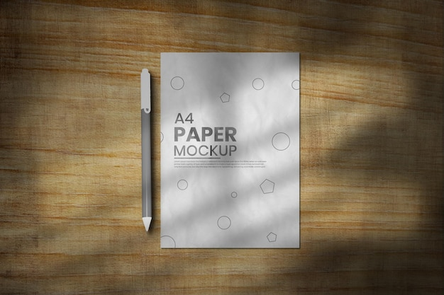 Conception de maquette de flyer avec texture de papier courbe