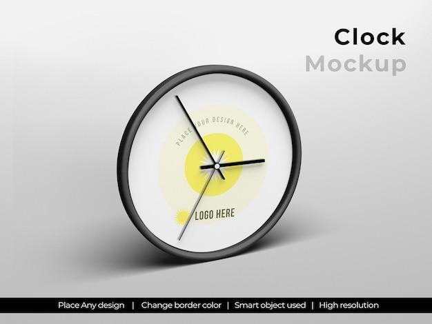 Conception de maquette d'horloge ronde