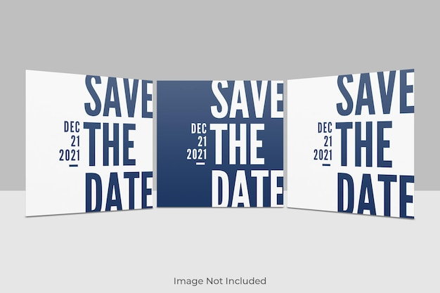 Conception de maquette d'invitation carrée élégante