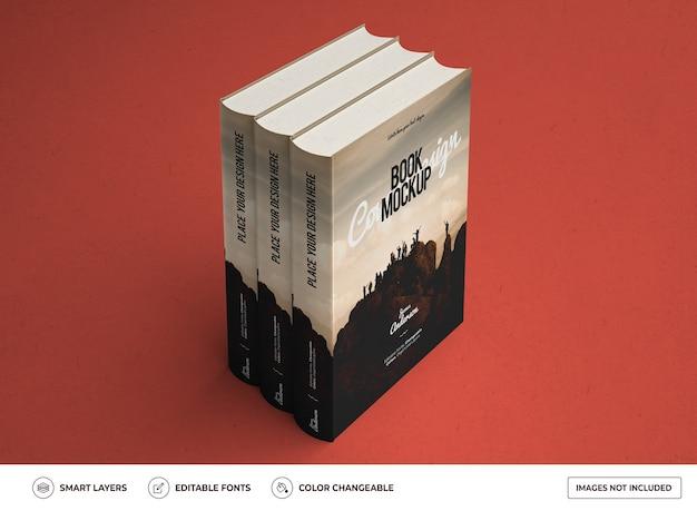 Conception de maquette de livre à couverture rigide réaliste