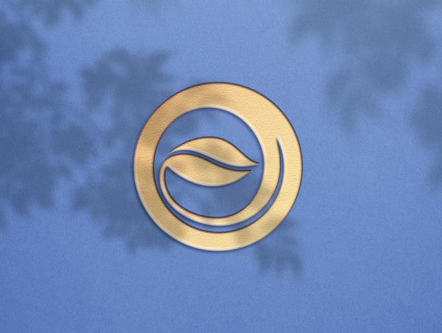 Conception de maquette de logo doré de luxe