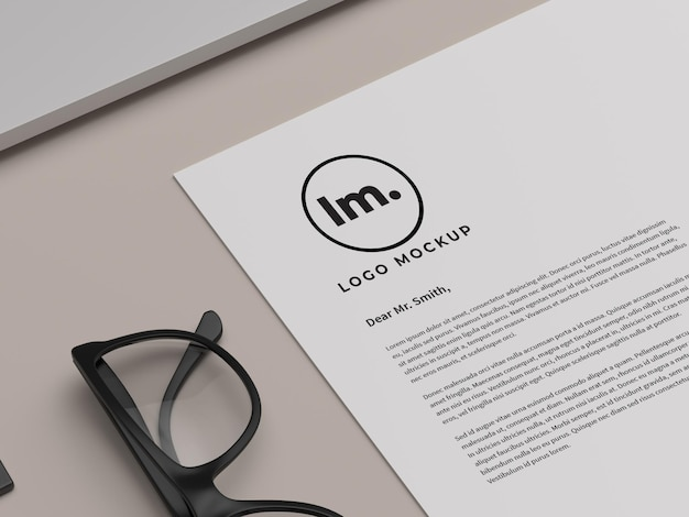 Conception de maquette de logo isolée