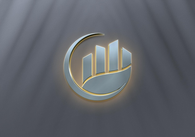 Conception de maquette de logo de luxe avec néon