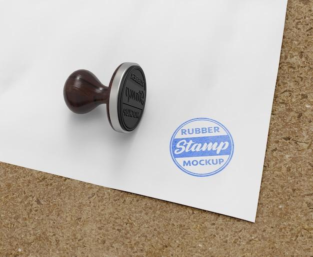 Conception de maquette de logo de tampon en caoutchouc ou de tampon
