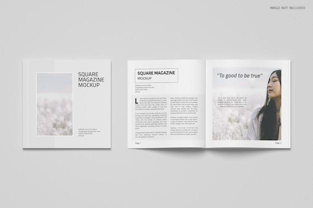 Conception de maquette de magazine carré