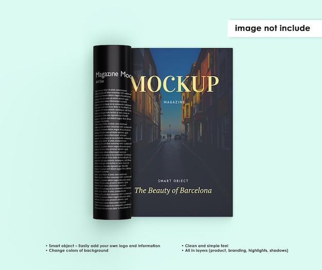 Conception de maquette de magazine isolé
