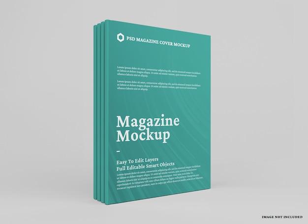 Conception de maquette de magazine isolée