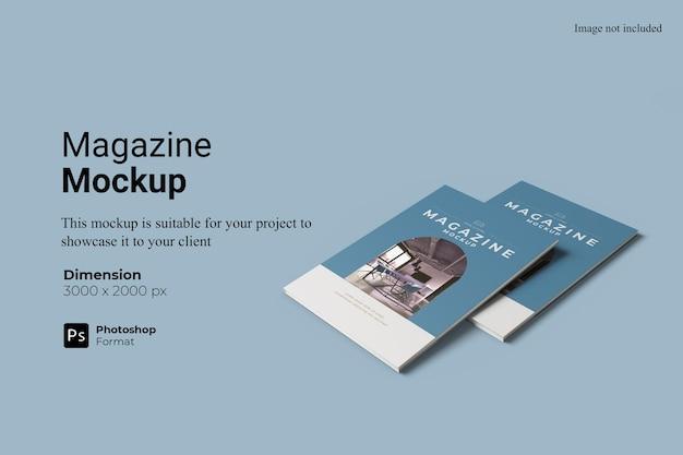 Conception de maquette de magazine réaliste isolée