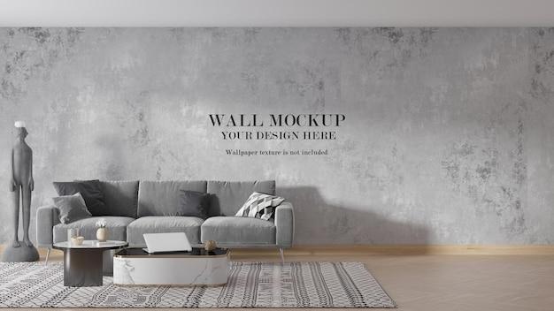 Conception de maquette de mur de pièce moderne