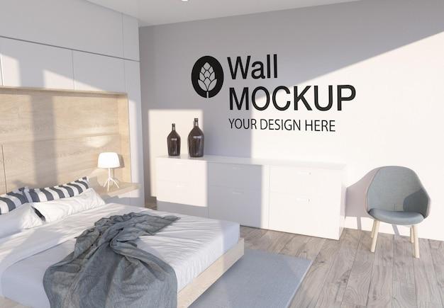 Conception de maquette murale dans la chambre