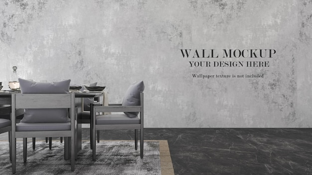 Conception de maquette murale avec des meubles