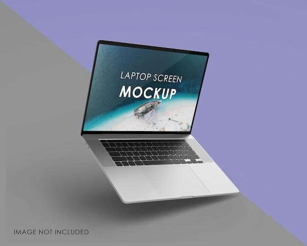 Conception de maquette d'ordinateur portable isolée
