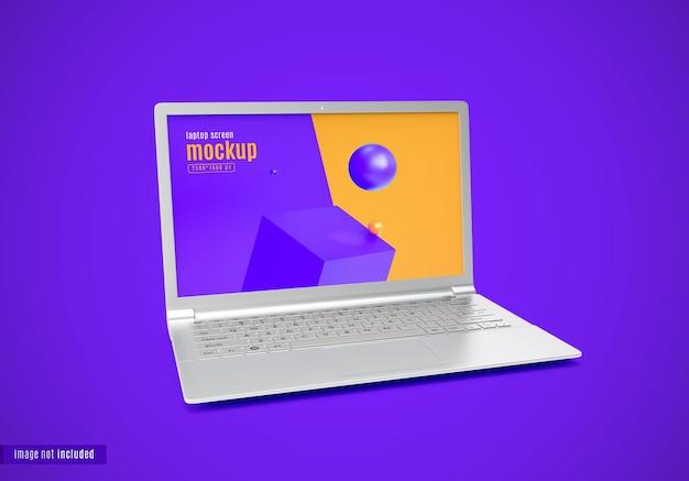 Conception de maquette d'ordinateur portable