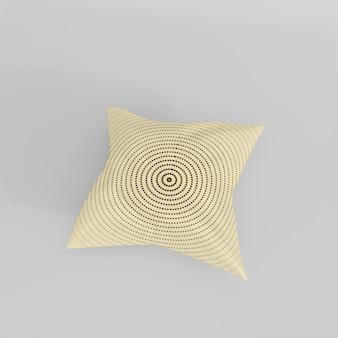 Conception de maquette d'oreiller réaliste 3d