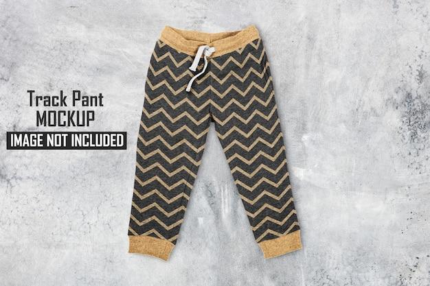 Conception de maquette de pantalon de piste isolée