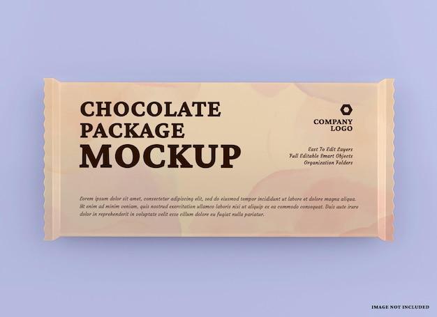 Conception de maquette de paquet de barre de chocolat isolée