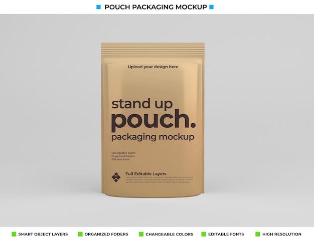 Conception de maquette de paquet de poche dans le concept de nourriture