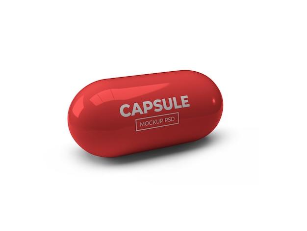Conception de maquette de pilule capsule isolée