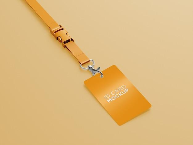 Conception de maquette de porte-carte d'identité à vue d'angle
