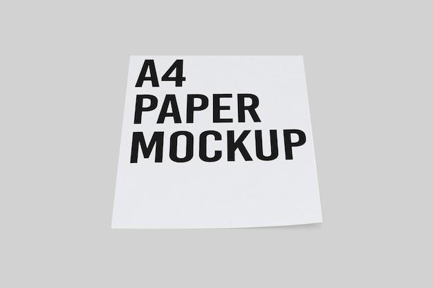 Conception de maquette de presse-papiers isolée