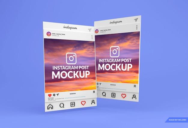 Conception de maquette de publication de médias sociaux instagram