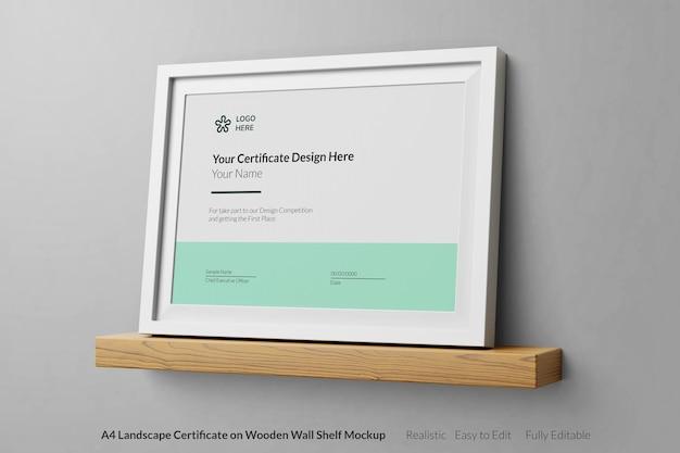 Conception de maquette réaliste de certificat moderne