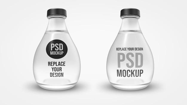 Conception de maquette de rendu 3d de bouteille en verre